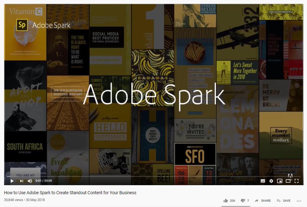 Adobe Spark course